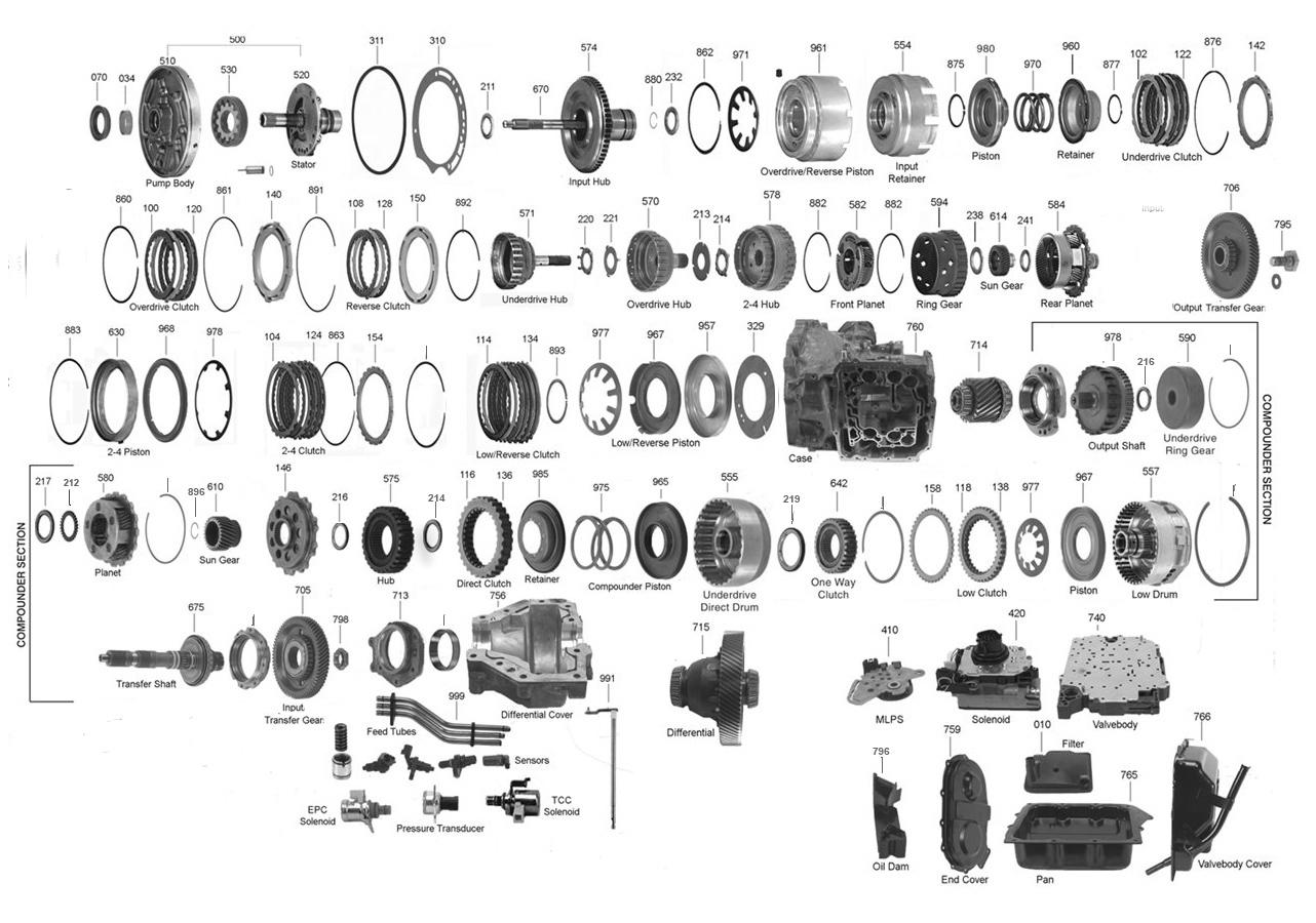 62te transmission parts diagram transmission parts online Dodge 62TE Transmission Diagram