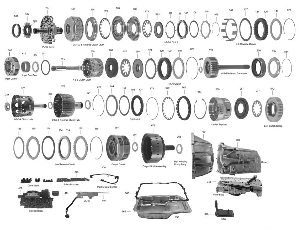 6l90 transmission parts diagram transmission parts online