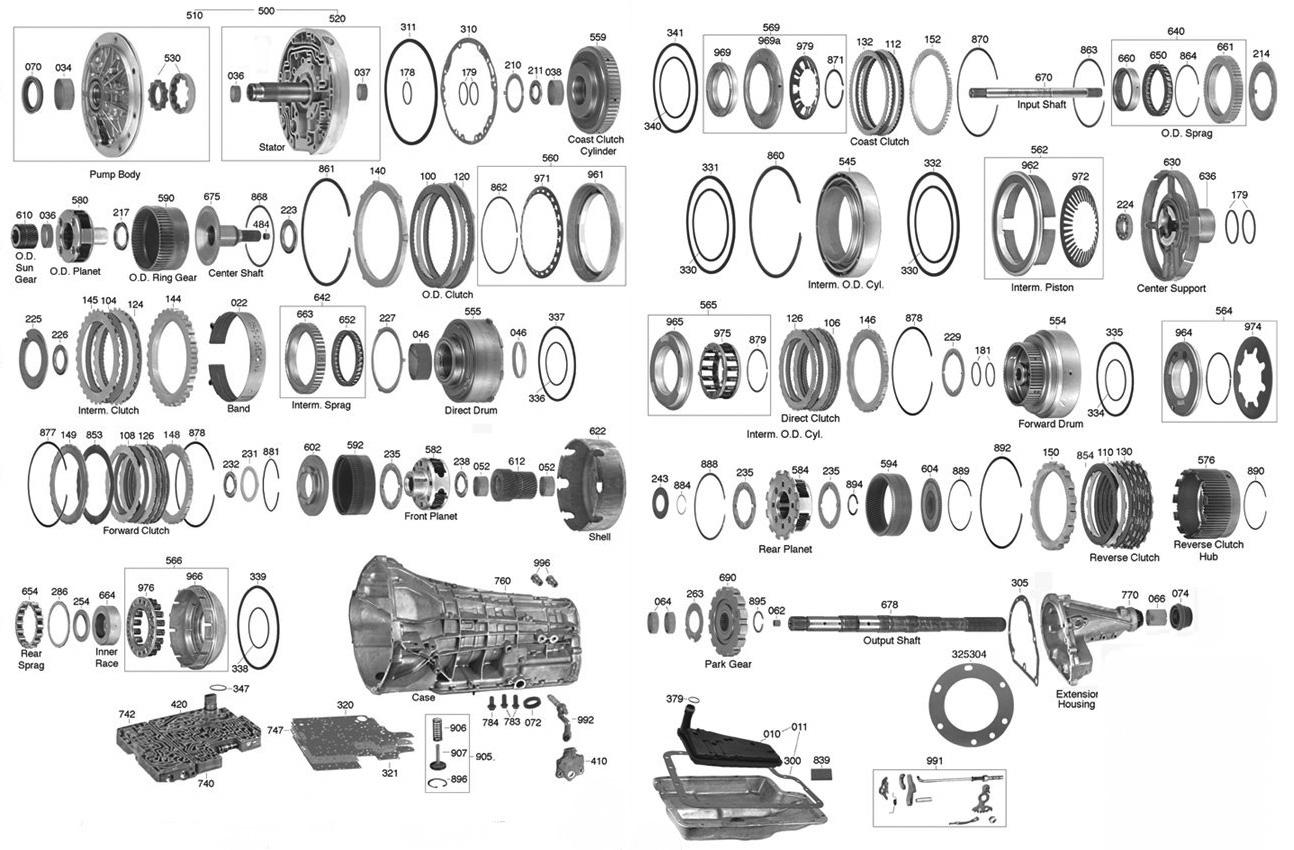 e4od transmission parts diagram transmission parts online